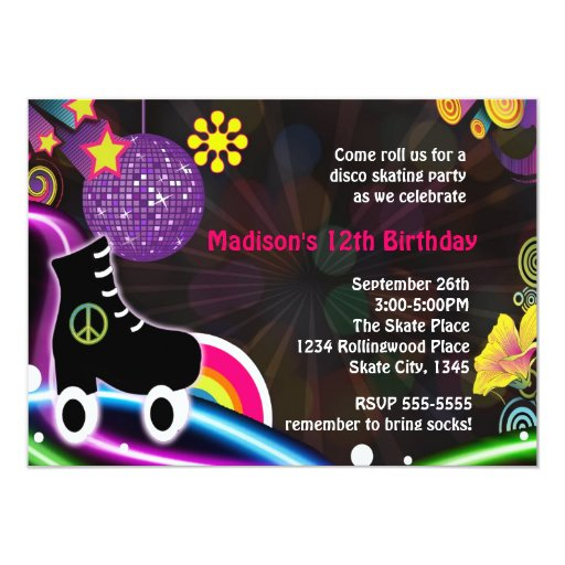 Roller Skating Party Invitation was great invitation template