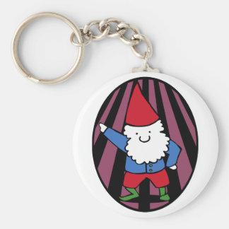 Disco Gnome Night Fever Keychain