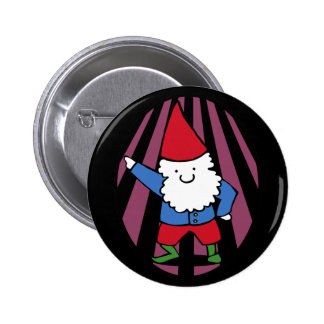 Disco Gnome Night Fever Pinback Button