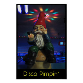 Disco Gnome Poster