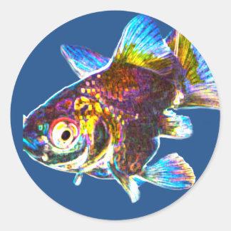 Disco Goldfish Classic Round Sticker