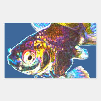 Disco Goldfish Rectangular Sticker
