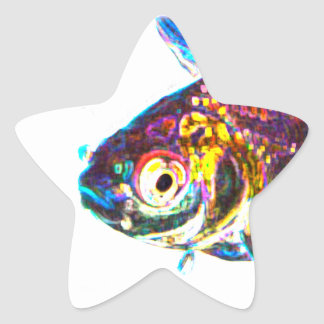 Disco Goldfish Star Sticker