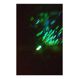 disco green burst at night stationery