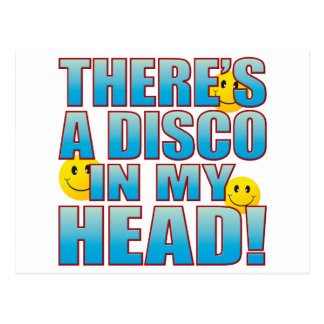 Disco Head Life B Postcard