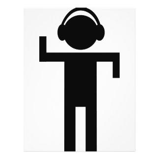 disco head phone type icon flyer