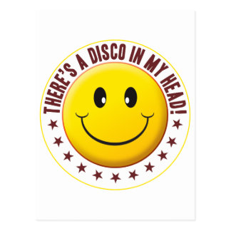 Disco Head Smiley Postcard