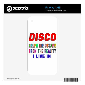 Disco Helps Me iPhone 4S Skin
