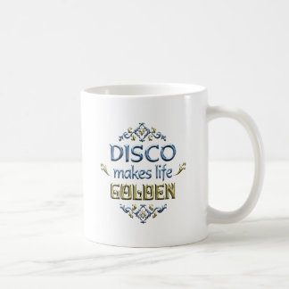 DISCO is Golden Classic White Coffee Mug