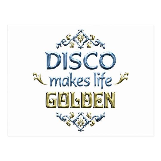 DISCO is Golden Postcard