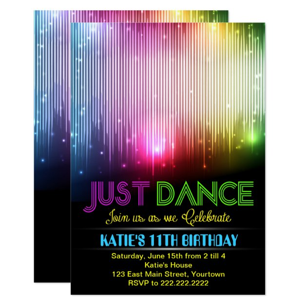 dance party invitations  announcements  zazzle, barn dance party invitations, dance party invitations, dance party invitations etsy