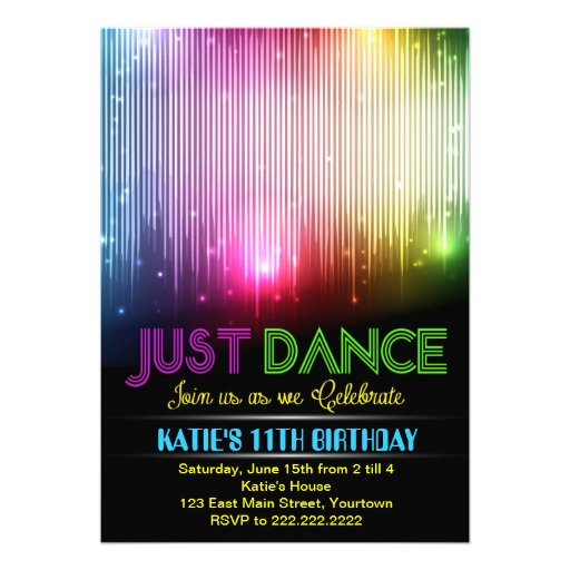 dance party invitations templates