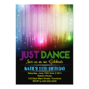 Dance Party Invitations Announcements Zazzle