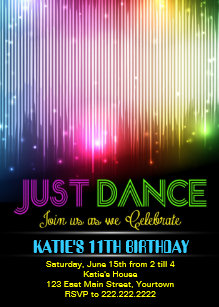 kids dance party invitations zazzle