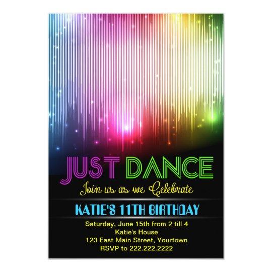 Disco Just Dance Party Invitation Zazzlecom