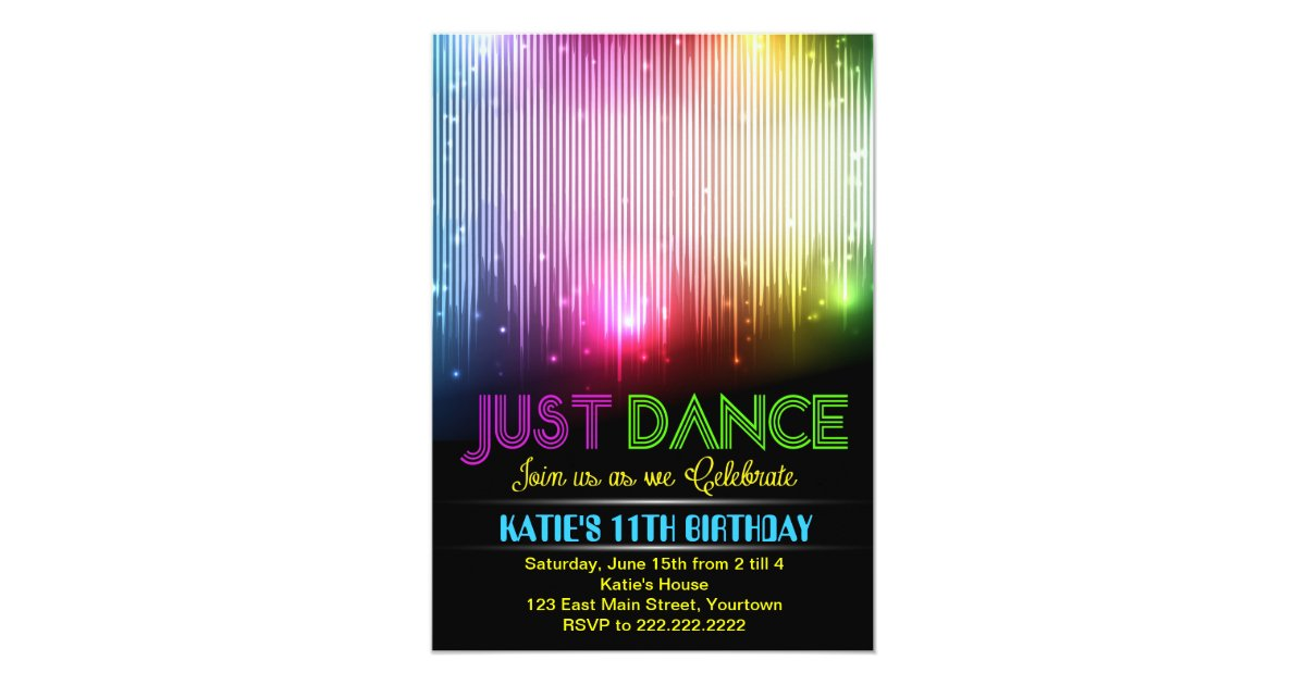 Disco Just Dance Party Invitation | Zazzle.com