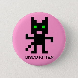 Disco Kitten Pinback Button