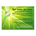 "Disco Lights 70s Party 4.5"" X 6.25"" Invitation Card"