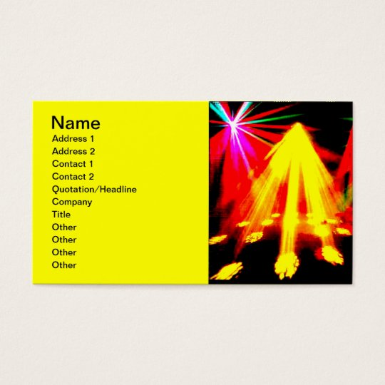 disco_lights - centre pic business card