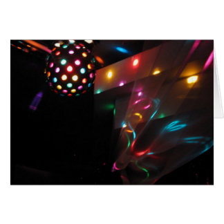 Disco Lights Greeting Cards