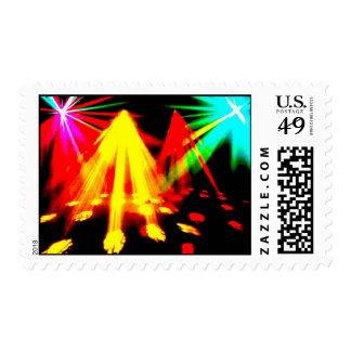 disco_lights - imagen del centro sello postal