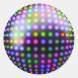 Disco Lights Round Stickers