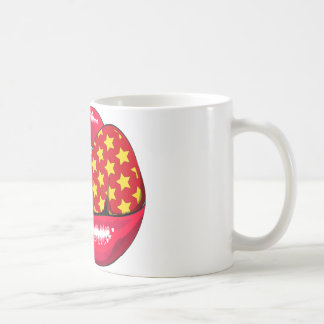 Disco lips coffee mug