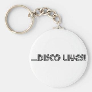 Disco Lives! Basic Round Button Keychain