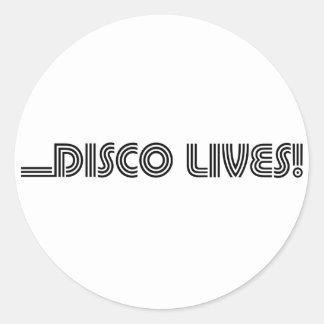 Disco Lives! Classic Round Sticker