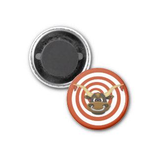 Disco magnético de la diana y de la blanco imán redondo 3 cm