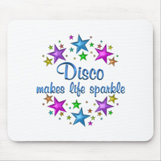 Disco Makes Life Sparkle Mouse Pad