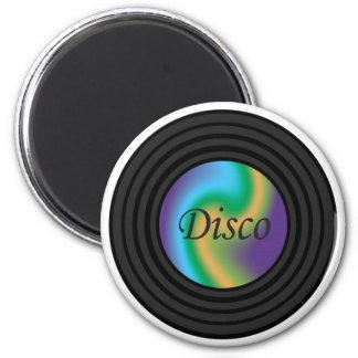 Disco Mini Vinyl 2 Inch Round Magnet