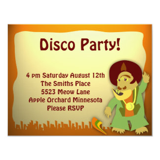 Disco Monster Groove Party Card
