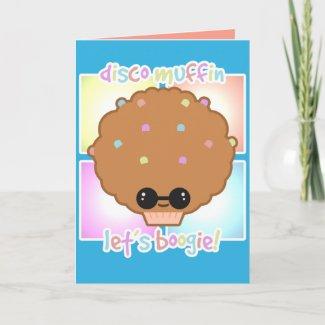 Disco Muffin Greeting Card card