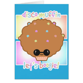 Disco Muffin Greeting Card