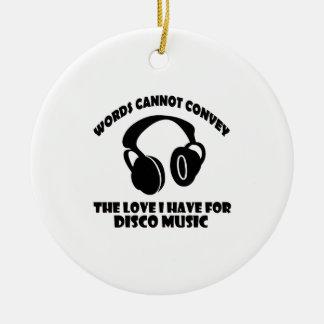 Disco Music designs Ceramic Ornament