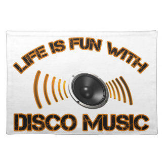 disco music Designs Placemat