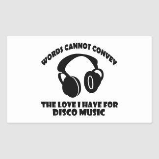Disco Music designs Rectangular Sticker