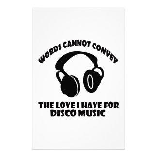 Disco Music designs Stationery