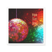 Disco Night 70's Retro Disco Ball Napkins