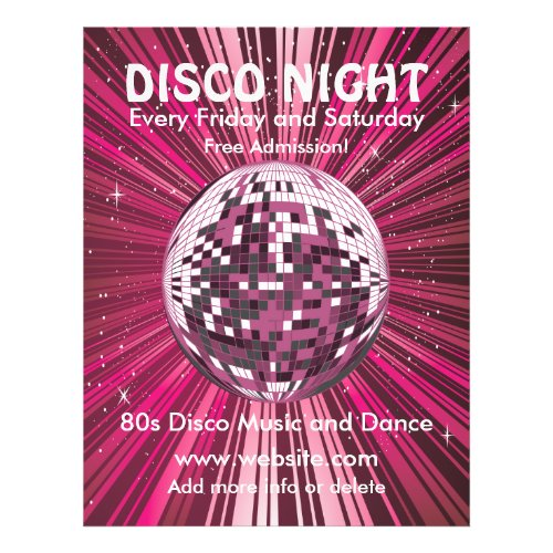 Disco Night Music Flyer flyer
