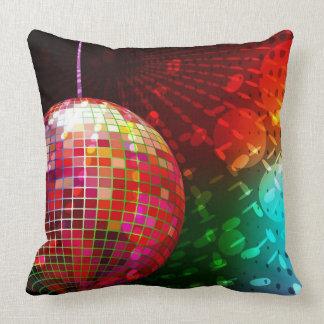 Disco Night Retro 70's Disco Ball Throw Pillow