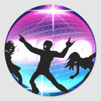 Disco Nightclub Classic Round Sticker
