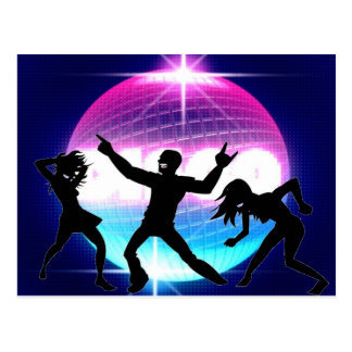 Disco Nightclub Postcard