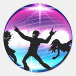 Disco Nightclub Round Sticker