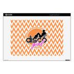 Disco; Orange and White Chevron Laptop Skins