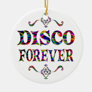 Disco para siempre ornamento para arbol de navidad