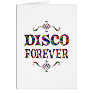 Disco para siempre tarjeta de felicitación