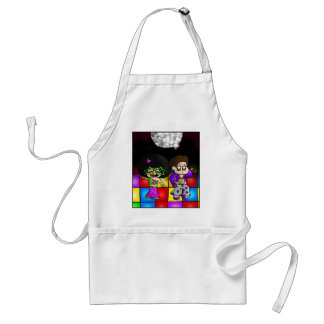 Disco party adult apron
