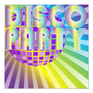 """Disco Party 5.25"""" Square Invitation Card"""